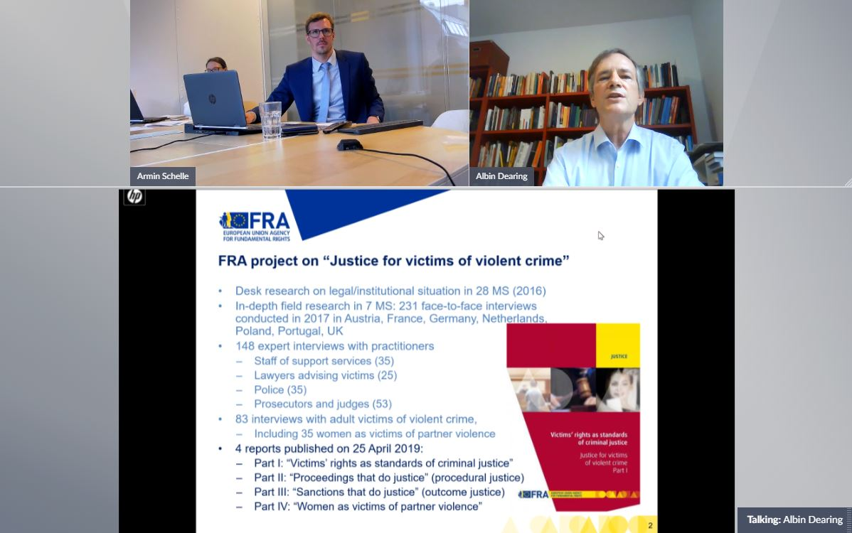 "Webinar presentation on ""Rights of the Child"" by Mr. Albin Dearing, FRA"